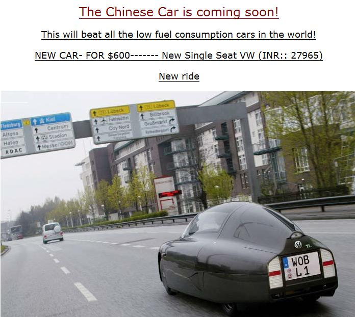 chinese car
